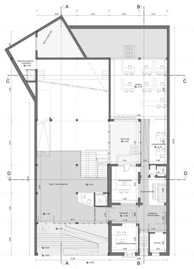 Planta Baja: Estudios y oficinas de estilo  por Pablo Anzilutti | Arquitecto