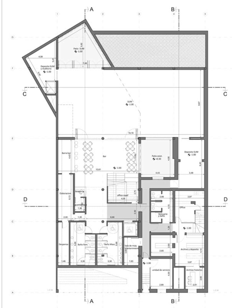 Subsuelo: Estudios y oficinas de estilo  por Pablo Anzilutti | Arquitecto