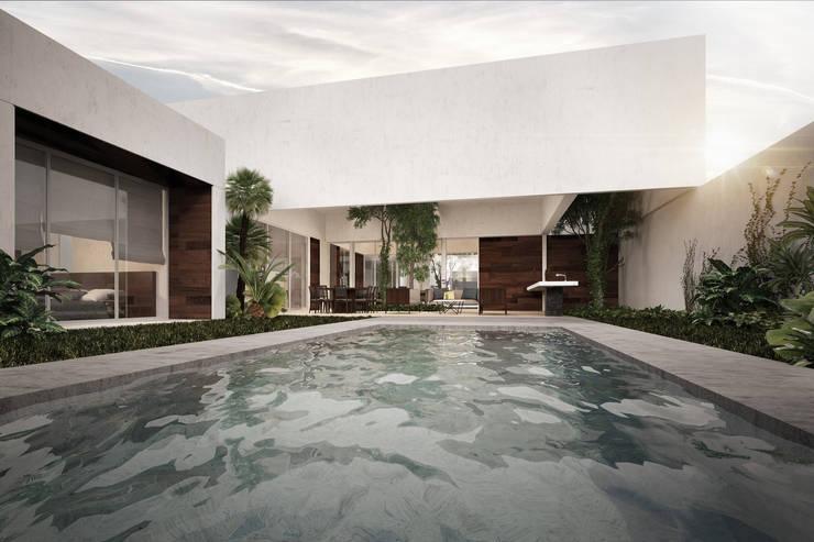 CASA MG: Casas de estilo  por RAYTRACE