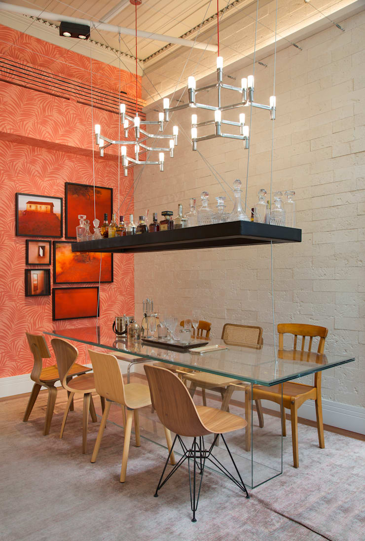 Dining room by Estúdio Barino | Interiores, Eclectic