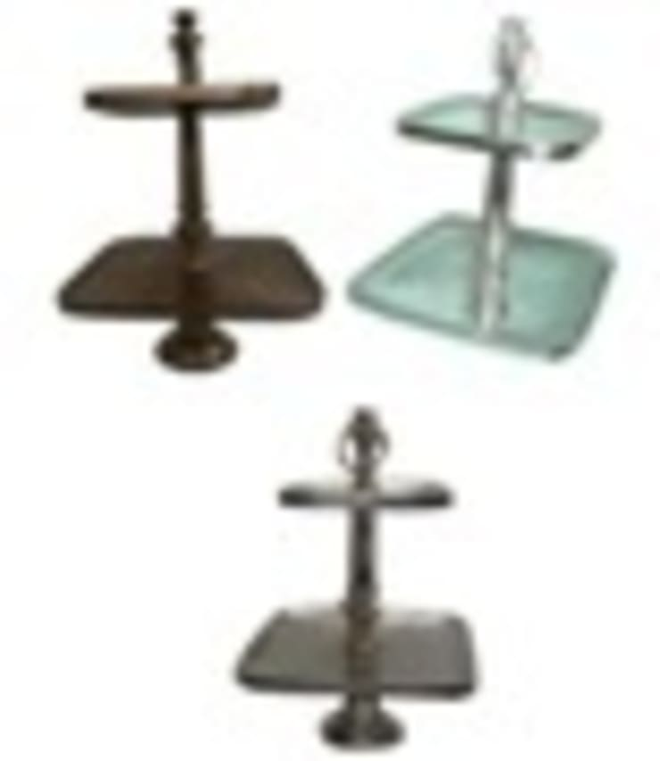 Aluminium 2 Tier Square Cake Stand:  Kitchen by Alyth Creations