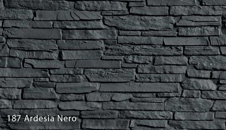 Ardesia Taş Panel Modelleri: Paisajismo de interiores de estilo  por Sena Stone