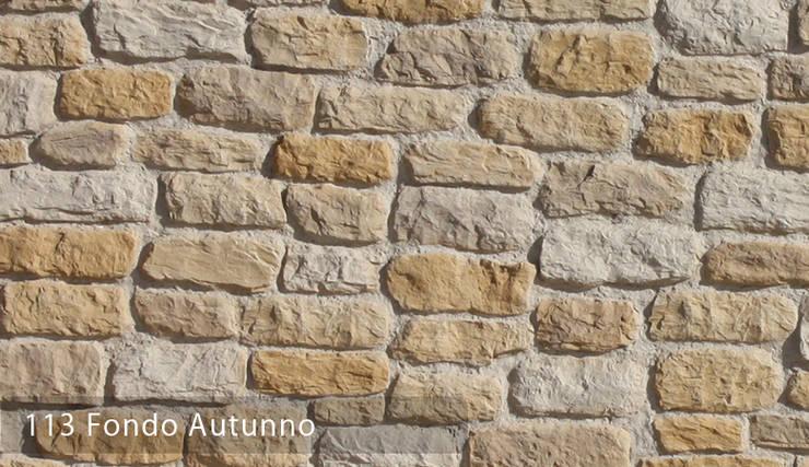 Fondo Taş Panel Modelleri: Paisajismo de interiores de estilo  por Sena Stone