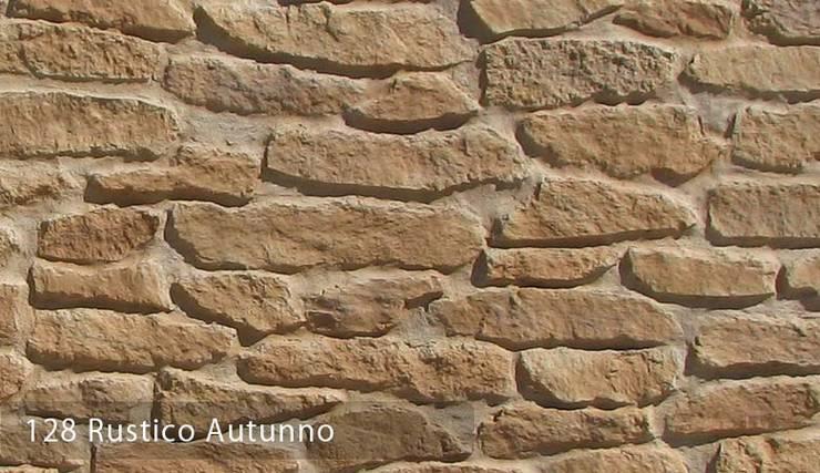 Rustico Doğal taş Görünümlü: Paisajismo de interiores de estilo  por Sena Stone