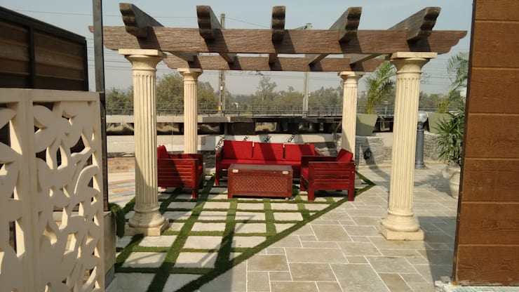 Concept Terraces :  Terrace by DG DESIGNER LANDSCAPES  LLP
