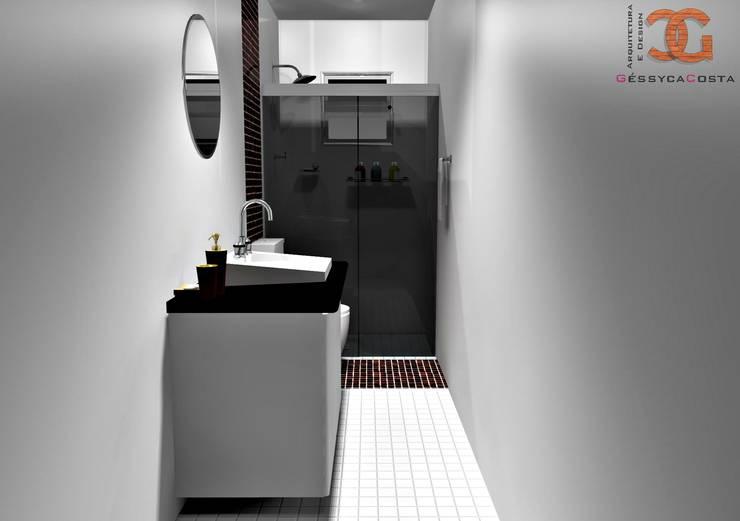 Decoração de Banheiro: Banheiro  por Géssyca Costa | Arquitetura e Design
