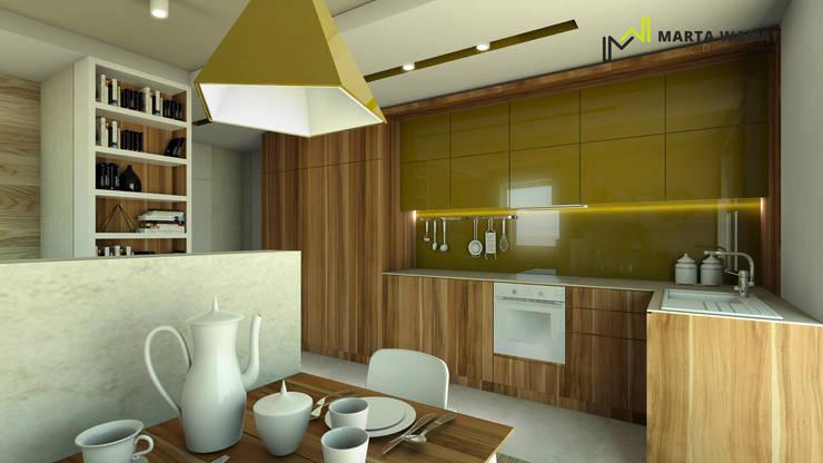 Aneks kuchenny: styl , w kategorii  zaprojektowany przez Marta Wanat Projektowanie Wnętrz