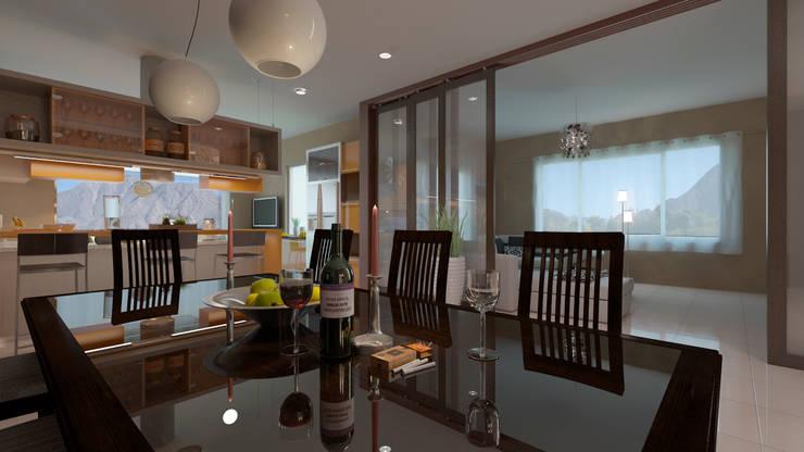 Comedores de estilo minimalista por Arquitecto Manuel Daniel Vilte