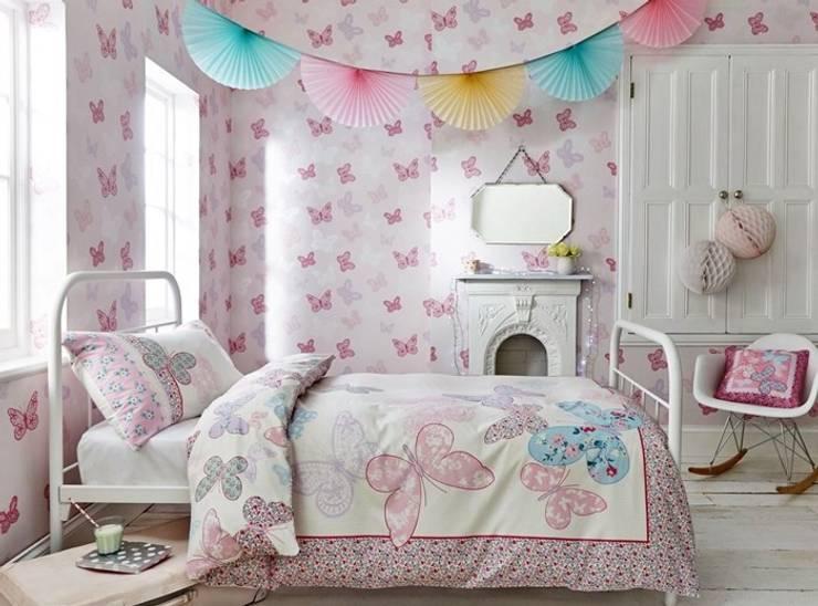 Colecção de tecidos a metro e papel de parede: Quarto de crianças  por o quarto dos miúdos