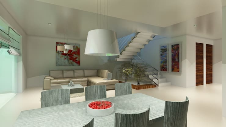 Dining room by CouturierStudio, Modern