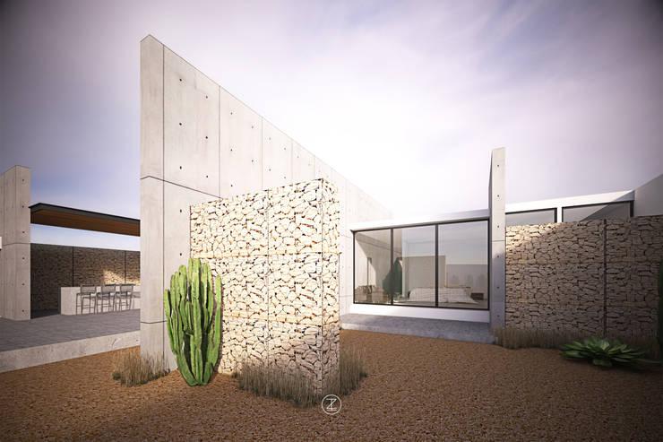 Casa 0316.: Terrazas de estilo  por Lozano Arquitectos