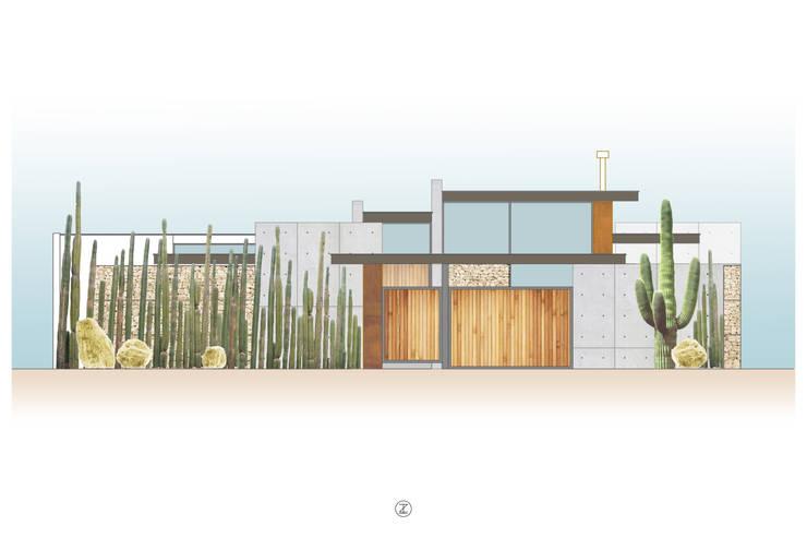 Casa 0316.: Casas de estilo  por Lozano Arquitectos