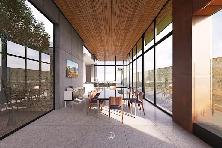 Casa 0316.: Comedores de estilo  por Lozano Arquitectos
