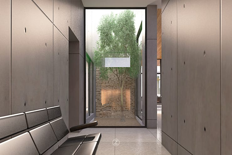 Casa 0316.: Jardines de estilo  por Lozano Arquitectos