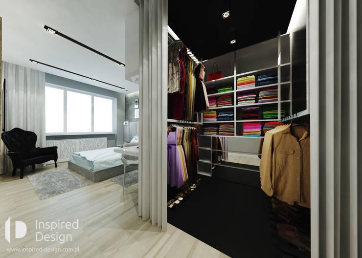MIESZKANIE W ŁODZI: styl , w kategorii Garderoba zaprojektowany przez Inspired Design
