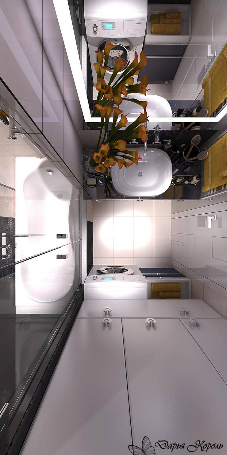 Дизайн ванной в панельном доме: Ванные комнаты в . Автор – Your royal design,