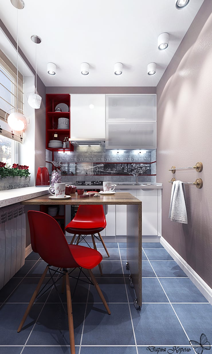 Однокомнатная квартира. Кухня и прихожая: Кухни в . Автор – Your royal design,