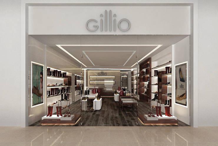 Cazado Gillio: Espacios comerciales de estilo  por AQ3 Arquitectos