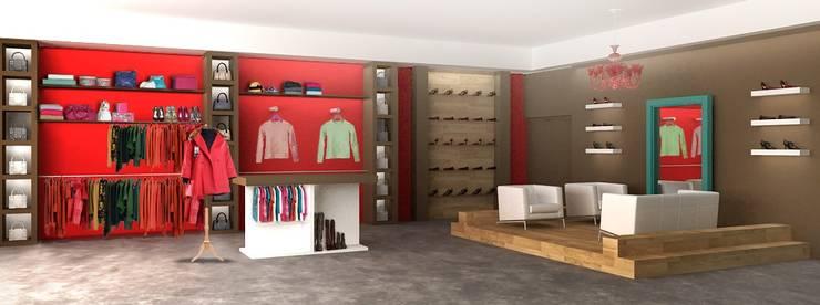 Interiores de Viviendas y Local Comercial: Oficinas y locales comerciales de estilo  por Estudio Arquitectura Integral