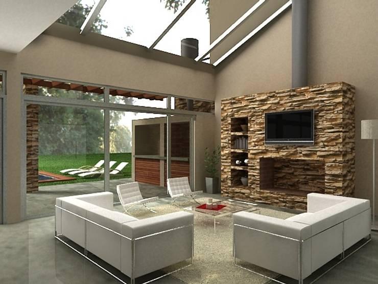 Interiores de Viviendas y Local Comercial: Livings de estilo  por Estudio Arquitectura Integral