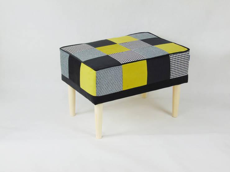 SERIA PATCHWORK: styl , w kategorii Salon zaprojektowany przez LandAproject