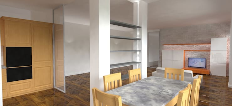 Casa privata - Loft a Milano: Sala da pranzo in stile  di Studio Arch. Matteo Calvi