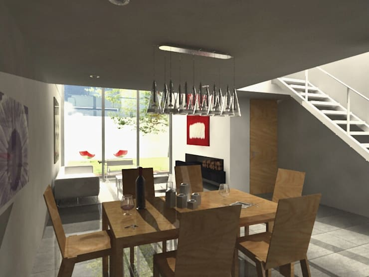 CaSA LINDA VISTA Design Process: Comedores de estilo  por CoRREA Arquitectos