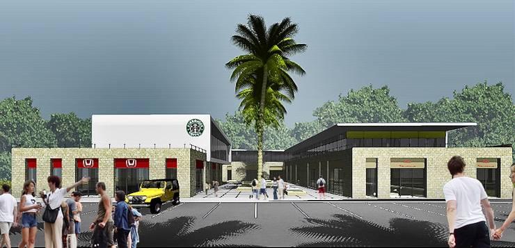 PLaZA MARBLAU Design Process: Centros Comerciales de estilo  por CoRREA Arquitectos, Moderno