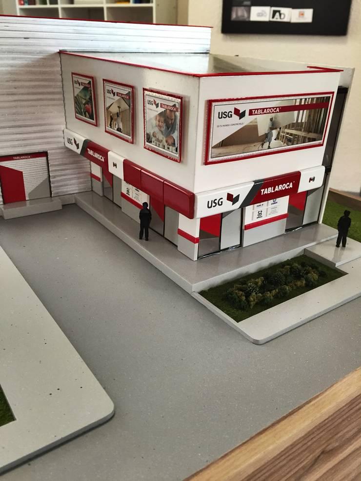 BoDEGA USG PUEBLA Design Process: Espacios comerciales de estilo  por CoRREA Arquitectos
