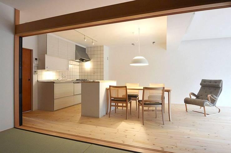 I宅 内部改修 マンションリノベーション: すまい研究室 一級建築士事務所が手掛けたキッチンです。