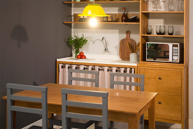 Cozinha pequena: Cozinha  por Meu Móvel de Madeira