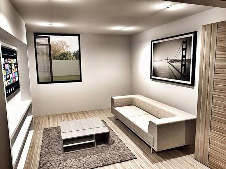 CaSA CC3 Design Process: Salas multimedia de estilo  por CoRREA Arquitectos