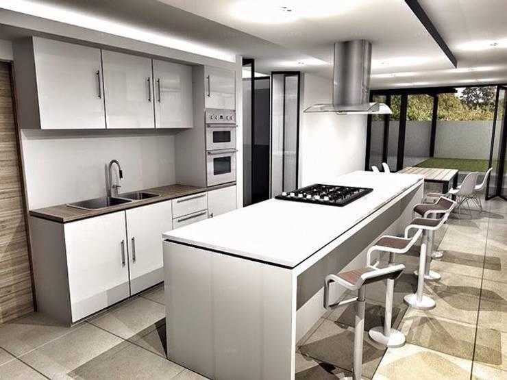 CaSA CC3 Design Process: Cocinas de estilo  por CoRREA Arquitectos