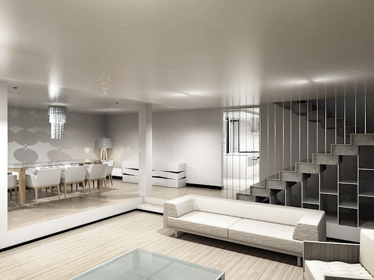 modern Living room by CoRREA Arquitectos