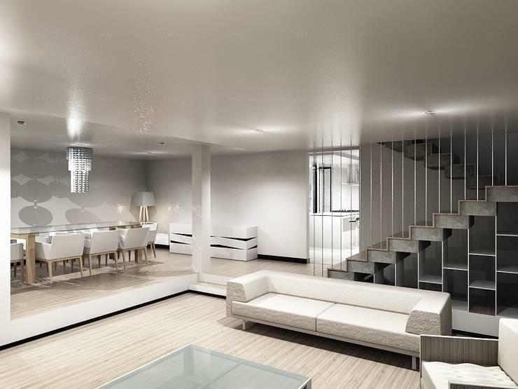 CaSA CC3 Design Process: Salas de estilo  por CoRREA Arquitectos