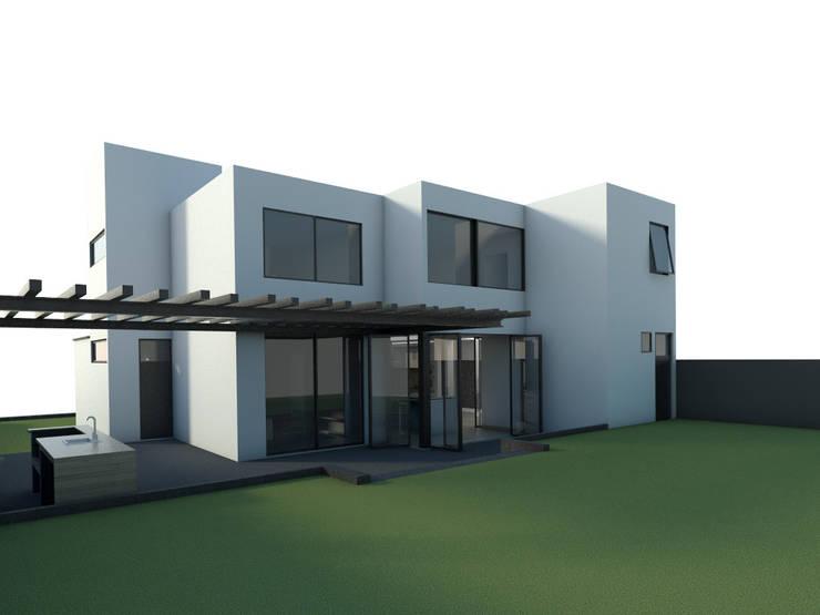 CaSA CC3 Design Process: Casas de estilo  por CoRREA Arquitectos