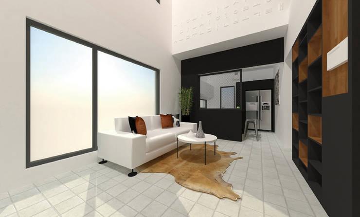 사ㅣ집 사이집, 새집 : 한글주택(주)의  거실
