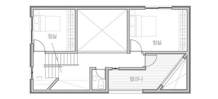 사ㅣ집 사이집, 새집 : 한글주택(주)의  침실,