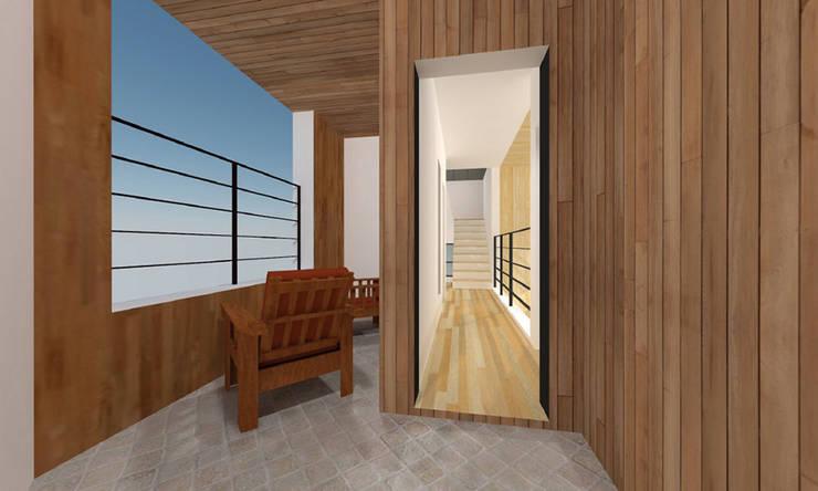 사ㅣ집 사이집, 새집 : 한글주택(주)의  베란다
