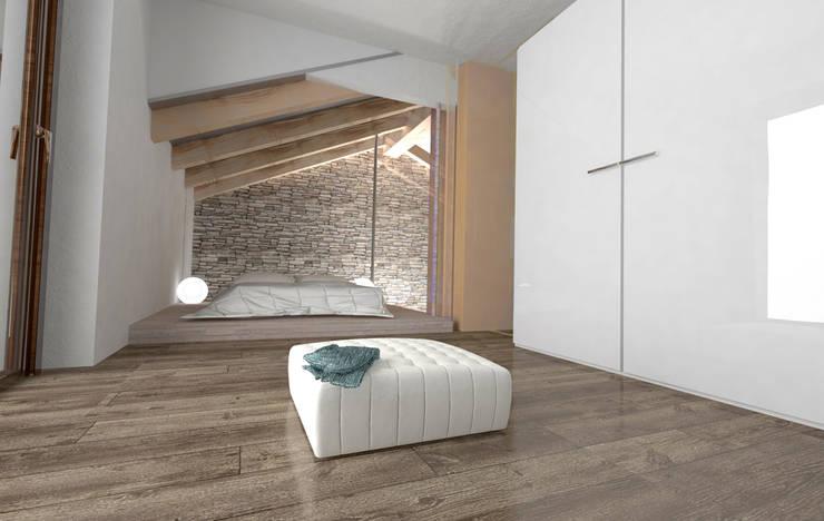 Projekty,  Sypialnia zaprojektowane przez Roberta Bonavia Architetto