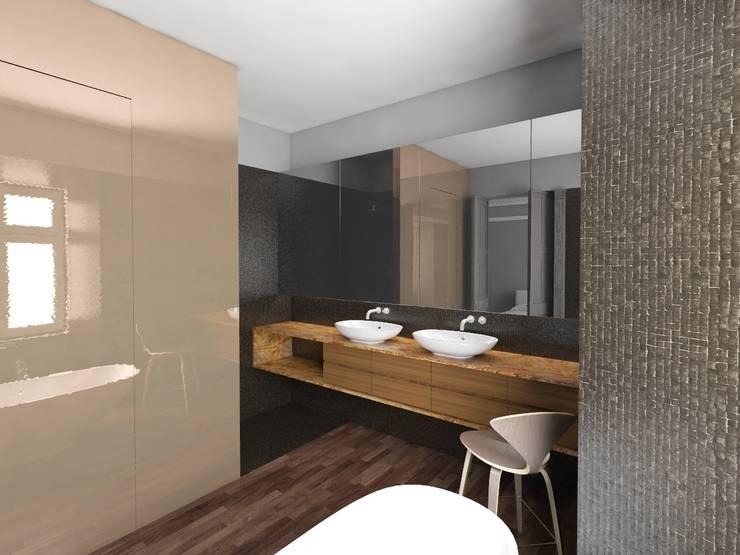 La Spezia – Arquitetura de interiores : Casas de banho  por Varq.