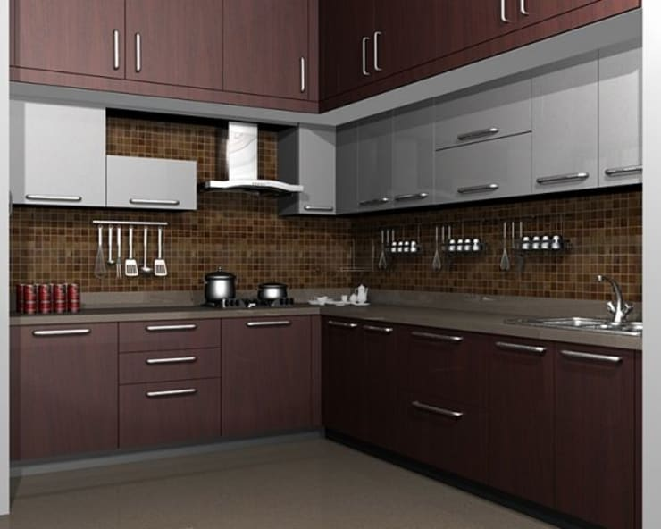 modular kitchens hydeabad: asian  by woodz modular designers and interiors,Asian
