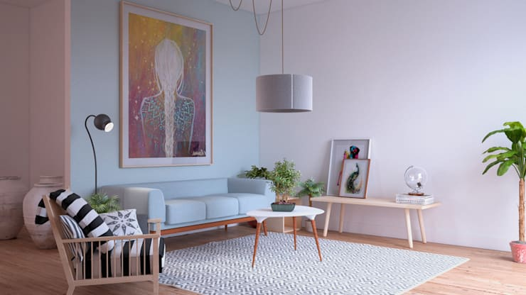 scandinavian Living room by ERC