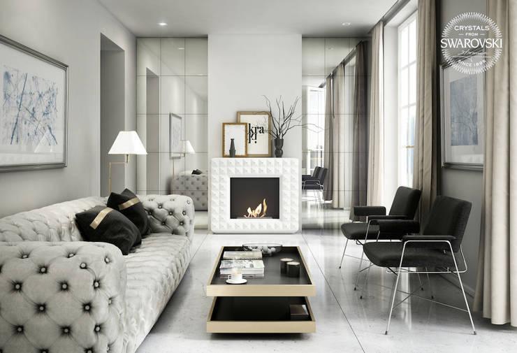 eclectic Living room by Kratki.pl Marek Bal