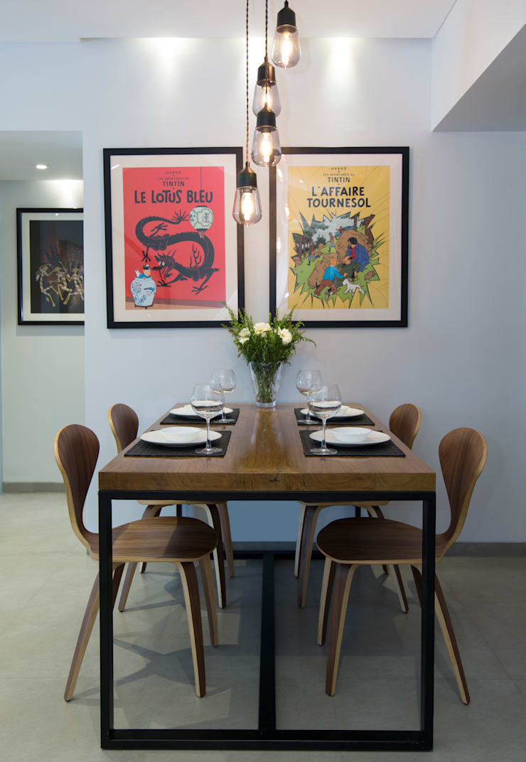 Residential—Lower Parel:  Dining room by Nitido Interior design