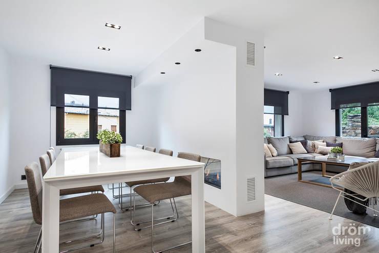 Salas de jantar minimalistas por Dröm Living