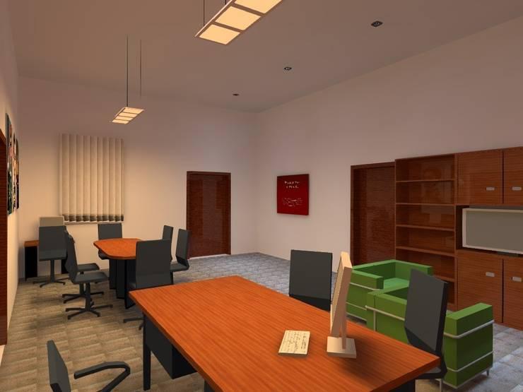 Conceptos Iluminación Oficinas Particulares:  de estilo  por Profesionales Especialistas