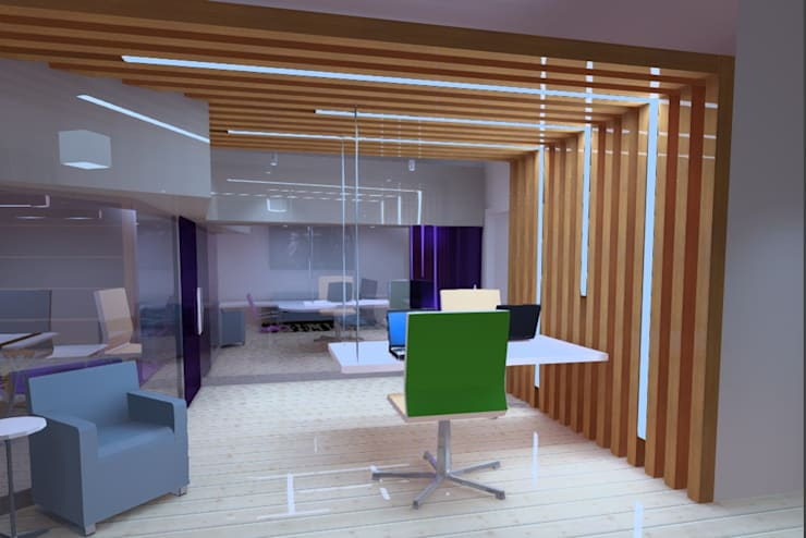 Concepto Oficinas particulares:  de estilo  por Profesionales Especialistas