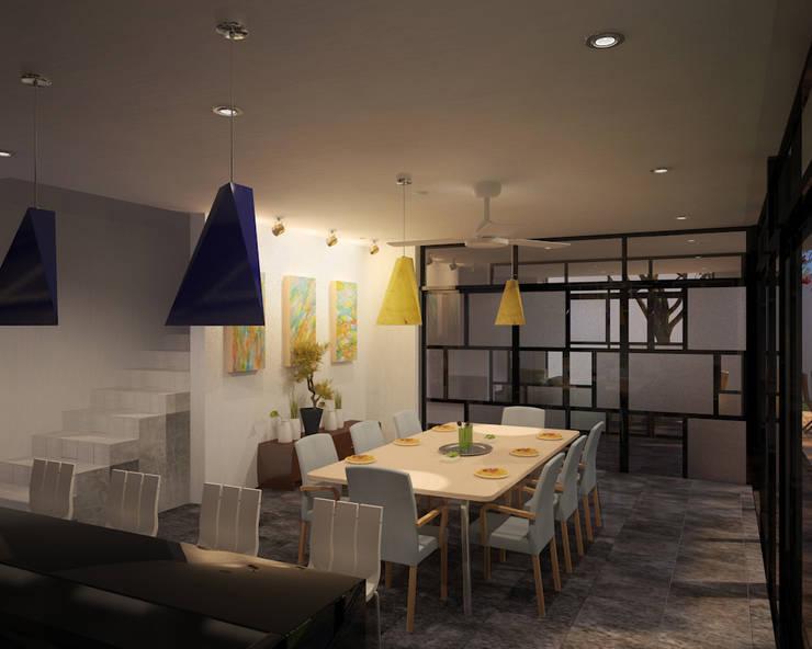 CASA P+A: Comedores de estilo  por ANGOLO-grado arquitectónico