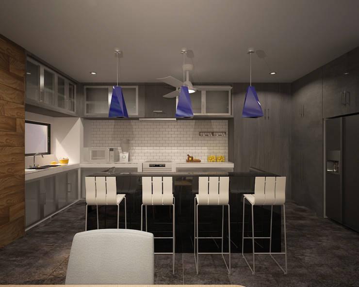 CASA P+A: Cocinas de estilo  por ANGOLO-grado arquitectónico
